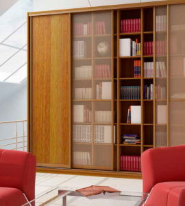 Корпусный книжный шкаф-купе 002