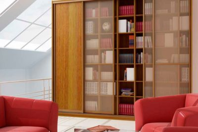 Корпусный книжный шкаф-купе КШК-002