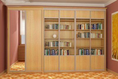 Корпусный книжный шкаф-купе КШК-003