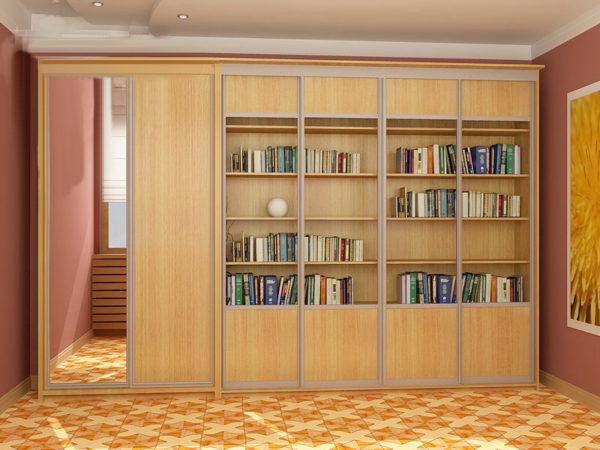 Корпусный книжный шкаф-купе 003