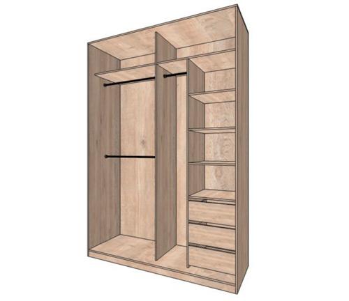 Наполнение шкафа 2 двери